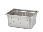 "Royal Perforated Steam Table Pan - Half Size, 6"" Deep"