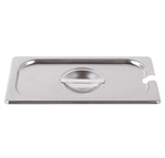 Cover For Third-Size Steam Table Pan With Utensil Notch (ROY STP 1300 2)