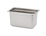"Royal Heavy Duty Steam Table Pan - 1/4 Size, 6"" Deep"