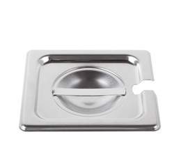 Cover For Sixth-Size Steam Table Pan With Utensil Notch (ROY STP 1600 2)