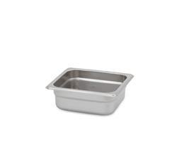 "Royal Heavy Duty Steam Table Pan - 1/6 Size, 2.5"" Deep"