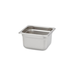"Royal Heavy Duty Steam Table Pan - 1/6 Size, 4"" Deep"