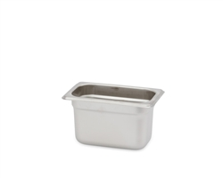 "Royal Heavy Duty Steam Table Pan - 1/9 Size, 4"" Deep"