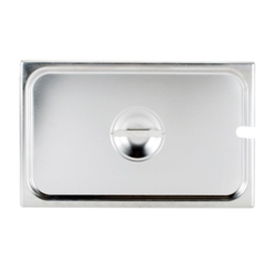 Cover For Full-Size Steam Table Pan With Utensil Notch (ROY STP 2000 2)