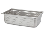 "Royal Industries ROY-STP-2006-P Full Size 6"" Deep Perforated Steam Table Pan"