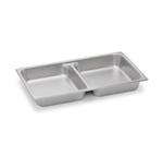 "Royal Industries ROY-STP-2012 Full Size 2.5"" Deep Two-Section Divided Steam Table Pan"