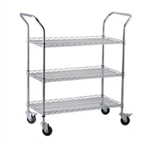 Royal Industries Chrome Wire Shelving Cart