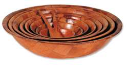 "Royal Industries Woven Wood Bowl - 6"", (ROY WWB 6)"