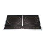 Eurodib Double Burner Countertop Induction Cooktop - 120V, 1800 Watt -  S2F1