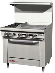 "Southbend S36D-2GR - 2-Burner 24"" Manual Griddle Standard Oven"