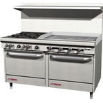 "Southbend S60DD-3GR - 4 Burner Range 36"" Manual Griddle Double Standard Oven - 60"" Wide"