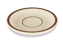 "Saucer, 6"", narrow rim, ceramic, Spice"