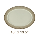 "Oval Platter - 18"" x 13.5"", Jazz Pattern"