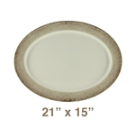 "Oval Platter - 21"" x 15"", Jazz Pattern"