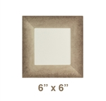 "Square Plate - 6"" x 6"", Jazz Pattern"