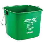 San Jamar Kleen-Pail Cleaning Bucket - 6 Qt., Green