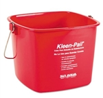 San Jamar Kleen-Pail Sanitizing Bucket - 6 Qt., Red