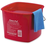 San Jamar Kleen-Pail Sanitizing Bucket - 8 Qt., Red