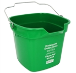 San Jamar KP320GN Cleaning Bucket - 10 Qt., Green