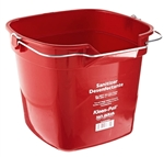 San Jamar KP320RD Sanitizing Bucket - 10 Qt., Red