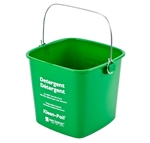 San Jamar KP97GN Cleaning Bucket - 3 Qt. Green