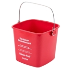 San Jamar KP97RD Sanitizing Bucket - 3 Qt., Red
