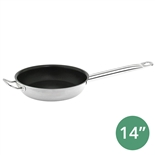 "14"" Non-Stick Stainless Steel Fry Pan with Hollow Handle (Thunder Group SLSFP314)"