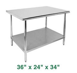 "Economy Work Table - 36"" x 24"" x 34"""