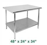 "Economy Work Table - 48"" x 24"" x 34"""