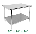 "Economy Work Table - 60"" x 24"" x 34"""