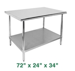 "Economy Work Table - 72"" x 24"" x 34"""