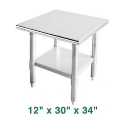 "Economy Work Table - 12"" x 30"" x 34"""