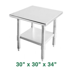 "Economy Work Table - 30"" x 30"" x 34"""