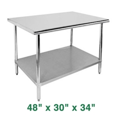 "Economy Work Table - 48"" x 30"" x 34"""
