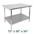 "Economy Work Table - 72"" x 30"" x 34"""