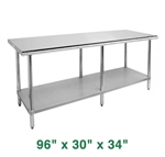 "Economy Work Table - 96"" x 30"" x 34"""