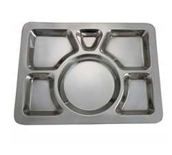 Winco 6 Compartment Mess Tray - Style A, (SMT-1)