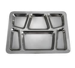 Winco 6 Compartment Mess Tray - Style B, (SMT-2)