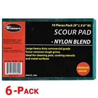 Winco SP-96 Scour Pad Heavy Duty Nylon 20 GRAMS - 6 Pack