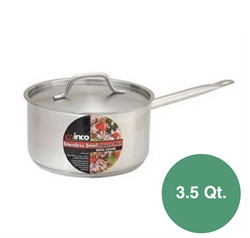 Winco Stainless Steel Induction Sauce Pan- 3.5 Qt.