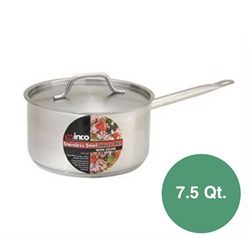 Winco Stainless Steel Induction Sauce Pan - 7.5 Qt.