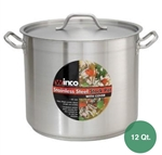 Winco SST-12 Stainless Steel Stock Pot Set - 12 Qt.