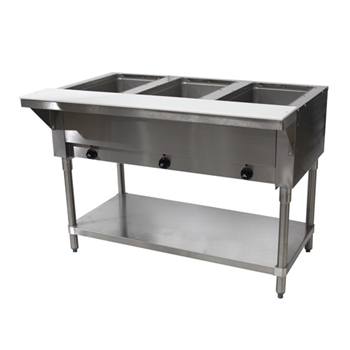 Advance Tabco 3-Well Electric Open Base Steam Table SW-3E-120