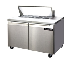 Continental 48-Inch (2) Door Sandwich Prep Table, With (10) 1/6 Size Pans, (SW48-10)