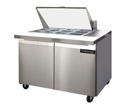 Continental 48-Inch (2) Door Mighty Top Sandwich Prep Table, With (12) 1/6 size Pans, (SW48-12M)