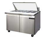 Continental 48-Inch (2) Door Mighty Top Sandwich Prep Table, With (18) 1/6 Size Pans, (SW48-18M)