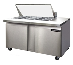 "Continental SW60-18M 2-Door Sandwich Prep Table - 60"" Wide"