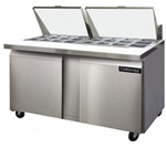 Continental 60-Inch (2) Door Mighty Top Sandwich Prep Table, With (24) 1/6 Size Pans, (SW60-24M)