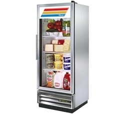 True 25-Inch (1) Glass Door 12 Cu.Ft. Bottom Mounted Reach-In Refrigerator, (T-12G-LD)