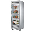 True 27-Inch (2) Glass Half Door 23 Cu.Ft. Reach-In Refrigerator, (T-23G-2)